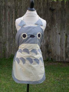 Hey, I found this really awesome Etsy listing at https://www.etsy.com/listing/159036161/handmade-totoro-studio-ghibli-apron