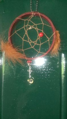 Red and brown dream catcher