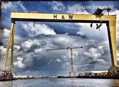 The world famous Harland & Wolff shipyard in Belfast. RMS Titanic was built and launched here in Travel Bugs, Us Travel, Bucket List Holidays, Belfast Northern Ireland, Rms Titanic, Rest Of The World, Love Images, Day Trips, Landscape