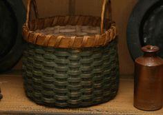 Round Basket Green