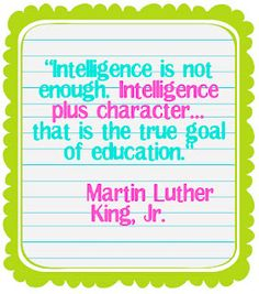 One of the best posts on teaching character.