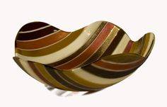 Wavy Pinstripe Bowl by Renato Foti: Art Glass Bowl available at www.artfulhome.com