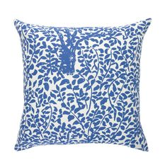Quadrille's 'Arbre de Matisse' fabric in blue.