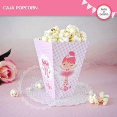 Bailarina: cajita popcorn