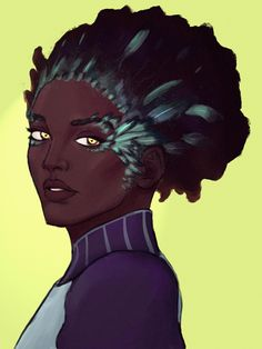 A doodle of Pallegina from Pillars of Eternity! She was one of my favorite companions. Black Characters, Fantasy Characters, Disney Characters, Fictional Characters, Pillars Of Eternity, Fantasy Character Design, Magic Art, Black Girl Magic, Black Art