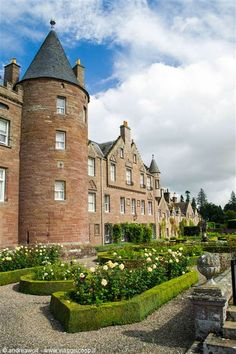 Glamis Castle, Angus, Scotland - home of the Earl and Countess of Strathmore and Kinghorne; childhood home of Elizabeth Bowes-Lyon, who married King George VI, and was later known as Queen Elizabeth The Queen Mother.