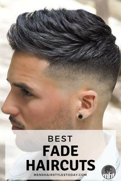 Hairstyles fade 35 Best Men's Fade Haircuts: The Different Types of Fades Guide) Best Fade Haircuts For Men - Cool Low, High, Mid Fades Best Fade Haircuts, Fade Haircut Styles, Cool Mens Haircuts, Hair And Beard Styles, Modern Haircuts, Barber Haircuts, Fade Haircuts For Boys, Stylish Haircuts, Modern Hairstyles