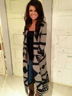 Long Aztec Cardigan. I want this !!!