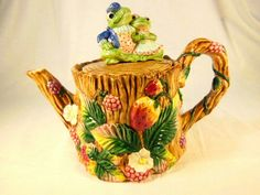 Vintage Fitz and Floyd Frogs and Berry by VintageQualityFinds
