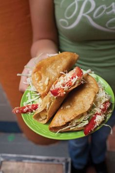 Tacos de Papa: These tacos are stuffed with cumin-spiced potatoes and fried until they're crunchy.