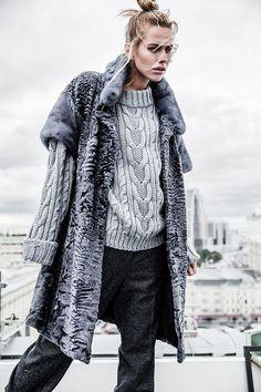 ebeb4def63ba8 Пальто из каракуля и меха норки Astrakhan Coat