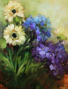 The Winning Garden Photo and Breezy Meadow Daisies by Texas Flower Artist Nancy Medina -- Nancy Medina