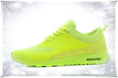 reputable site 6fc3a f05f2 meilleur chaussure de running Hommes-Femmes Nike Air Max Thea Print  Luminous Vert  Jaune 616723-605