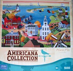 NANTUCKET ISLAND~Mega Brands 500 Piece Jigsaw Puzzle~Marie Fox~COMPLETE in Toys & Hobbies, Puzzles, Contemporary Puzzles | eBay
