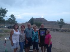 At the cemetery visiting Daddy with some of the sibs.. Debbie, me, Richard, Sandy, Mike, and Sharon 2016