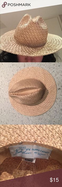 Asos Straw Fedora Men's. Has small holes and breaks on top. Worn once at a festival!!! Really cute for summer and the beach! Great condition otherwise!!! No trades! ASOS Accessories Hats