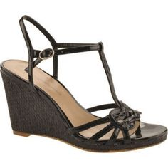 SALE - Womens Bandolino Kiden Wedge Heels Black Fabric - Was $69.00 - SAVE $22.00. BUY Now - ONLY $46.95