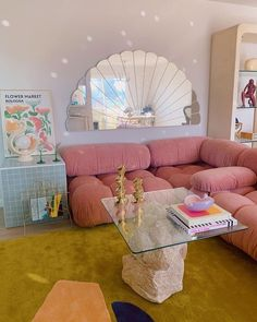 Pretty in pink, our Mario Bellini Camaleonda Sofa exudes a playful yet effortlessly chic vibe. #eternitymodern Funky Bedroom, Room Ideas Bedroom, Bedroom Decor, 1980s Bedroom, Bedroom Sofa, Aesthetic Room Decor, Dream Rooms, My New Room, Room Inspiration