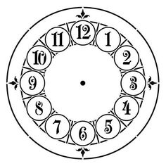 printable clock templates here are a few examples diy clocks