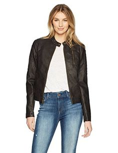 59d53067265af Levi s Women s Faux Leather Fashion Quilted Racer Jacket