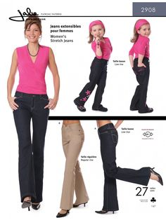 Jalie 2908 - Stretch Bootcut Jeans Sewing Pattern