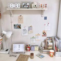 Room Design Bedroom, Room Ideas Bedroom, Bedroom Decor, Study Room Decor, Cute Room Decor, Study Rooms, Study Desk, Study Space, Room Ideias