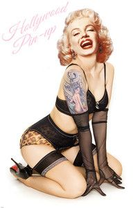 Marilyn Monroe inked pin-up!