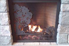 Custom-designed fireplace screen for public library. Taylor Luke Design Custom Fireplace Screens, House Ideas, Public, Graphic Design, Home Decor, Little Cottages, Decoration Home, Room Decor, Home Interior Design