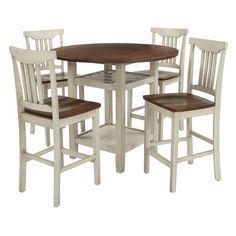 OSP Home Furnishings Berkley Set- Table Chairs in Antique White wit at Lowe's. Bring the modern farmhouse look into your kitchen with this counter height dining set. A striking white and wood finish welcomes friends and family for Nook Dining Set, Dining, Dining Room Chairs, Counter Height Dining Sets, Breakfast Nook Dining Set, Dining Furniture, Kitchen Dining Room, Osp Home Furnishings, Kitchen Dining Furniture