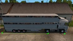 Semi Trailer-Cattle Carrier In Ownership mod for Mod allows you to purchase a semi-trailer for transportation of livestock. Mod Features:– Possibility of painting the semi-trailer; Semi Trailer, Cattle, Missouri, Kansas City, Retail, Gado Gado, Sleeve, Retail Merchandising