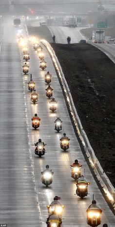 """Image result for Chris Kyle, """"American Sniper"""" Bikers Honoring our fallen Warrior in the funeral procession"""