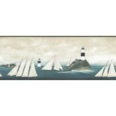 Visual Philosophy Cathrineholm Kitchen Unframed Print Xcm - Discontinued lighthouse border