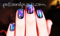 how to galaxy nail tutorial