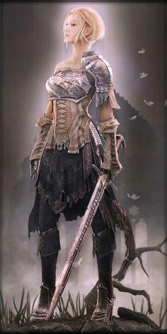 Jeanne D'arc | short blonde hair | warrior