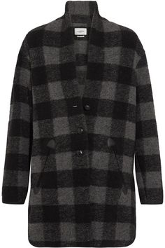ETOILE ISABEL MARANT Gino Oversized Checked Wool-Blend Coat. #etoileisabelmarant #cloth #coats