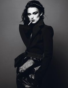Keira Knightley photographed by Mert & Marcus for Interview April 2012.    ps: cigarettes are sexy. don't tell me otherwise.