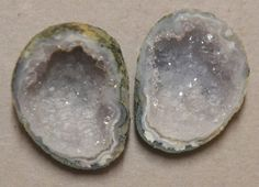Tabasco Geode 1 Pair Cut and Polished Great for Jewelry 20093 #Unbranded