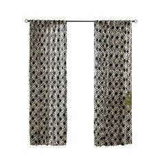 Porch curtain    Shop Solaris 108-in L Black Trellis Outdoor Curtain Panel at Lowes.com
