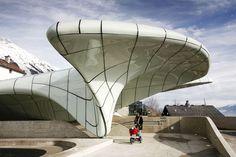 Funicular Railway Station in Innsbruk by Zaha Hadid