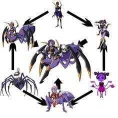Spider Girls Trifusion by DankoDeadZone.deviantart.com on @DeviantArt