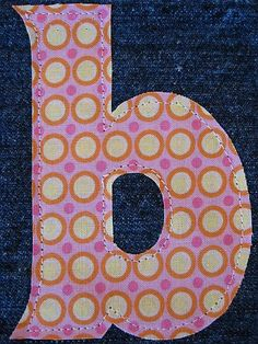 How to applique a letter onto fabric