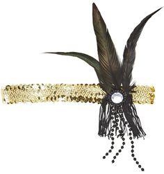 Dekoratives Stirnband 20- iger Jahre in gold: Amazon.de: Spielzeug