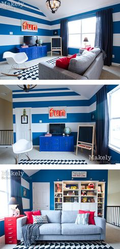 Wow. Love the stripes on the wall.