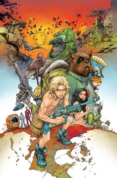 The Kamandi Challenge #2 - Variant cover by Kenneth Rocafort