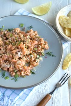 a fabulous salmon tartare from Drizzle and Dip ~ lemon, fresh ginger, pickled jalapeños