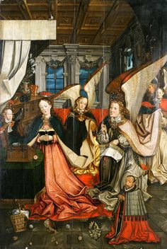 Annunciation from the epitaph of Adam Kessel, canon of Nysa and Wrocław collegiate church of the Holy Cross by Matthias Heintze, ca. 1599 (PD-art/old), Muzeum Narodowe we Wrocławiu (MNWr)