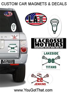Designed Round Car Magnet For Carrollton Lacrosse Lacrosse Car - Custom car magnets decals
