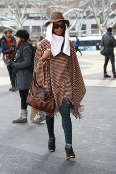 New York Fashion Week street style. [Photo by Robert Mitra]