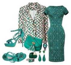 """""""She Loves Her Green Garden with The Fresh Herbs"""" by blujay1126 ❤ liked on Polyvore featuring Samuji, Zac Posen, ALDO, Giancarlo Paoli, Kara Ross, Sidney Garber and Nixon"""