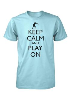 Hot 4 TShirts - Keep Calm and Play On Ultimate Frisbee T-Shirt Men's, $16.00 (http://hot4tshirts.com/keep-calm-and-play-on-ultimate-frisbee-t-shirt-mens/) #KeepCalm #Ultimate